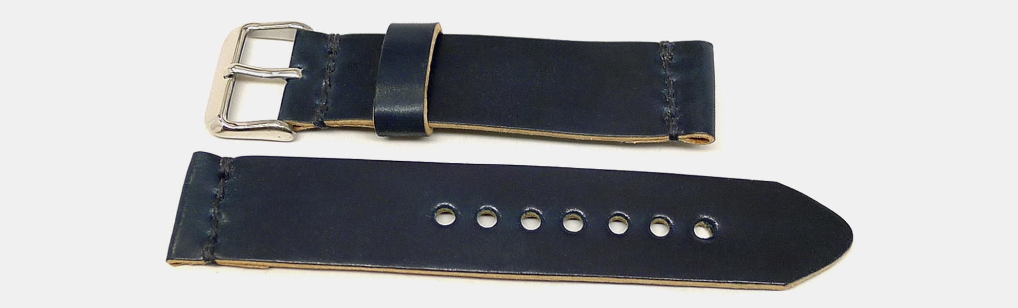 Da Luca Custom Shell Cordovan Two-Piece Watch Strap