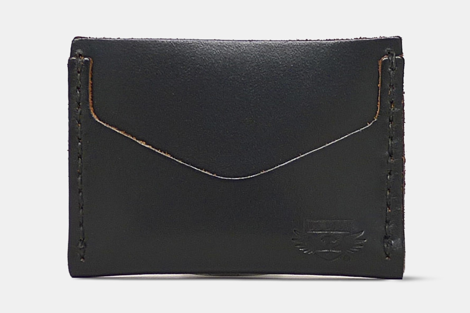 Horizontal Card Wallet - Black Chromexcel - Black CXL