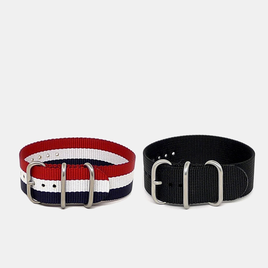 Da Luca One-Piece Nylon Watch Strap (2-Pack)