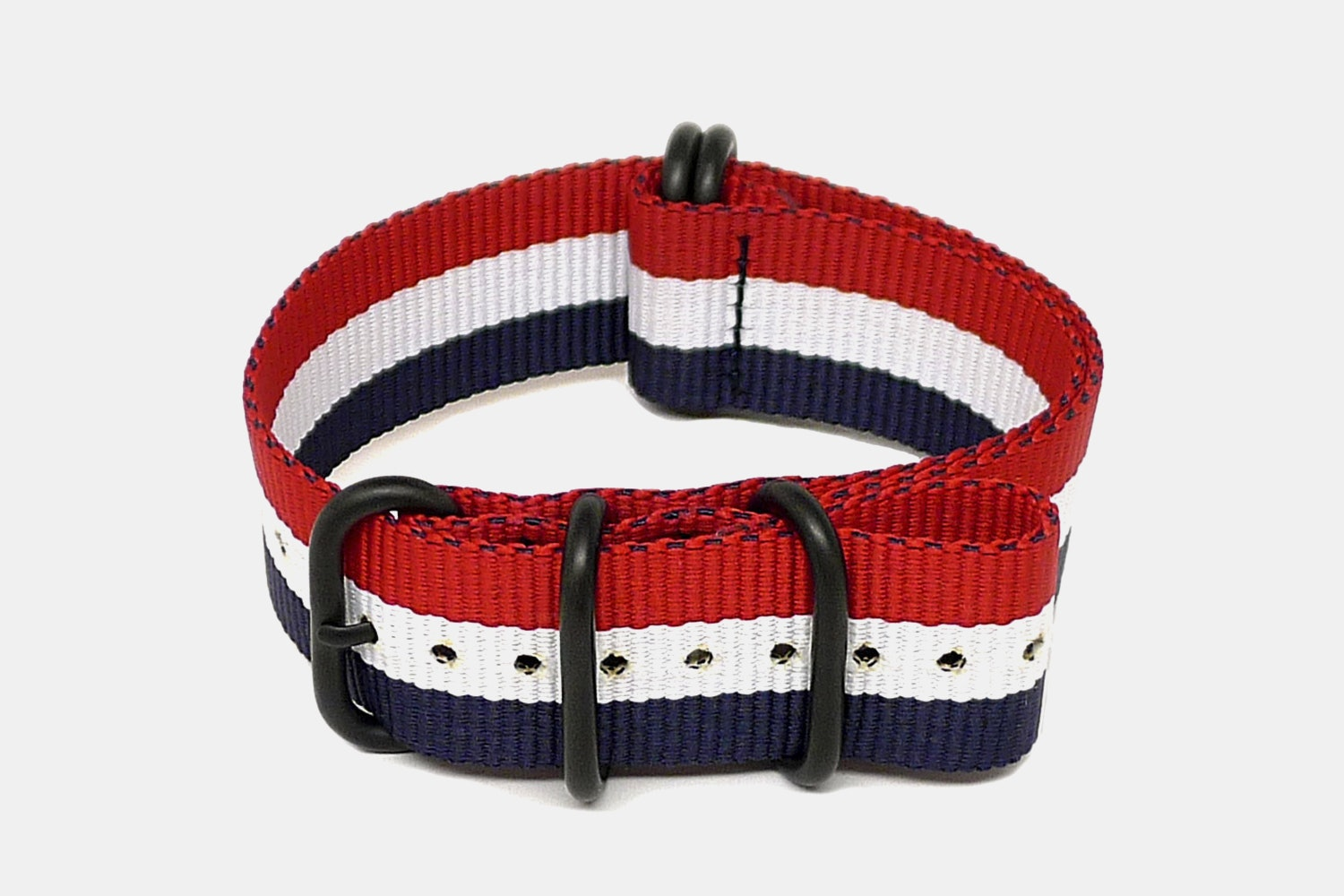 Red/White/Blue - Black PVD
