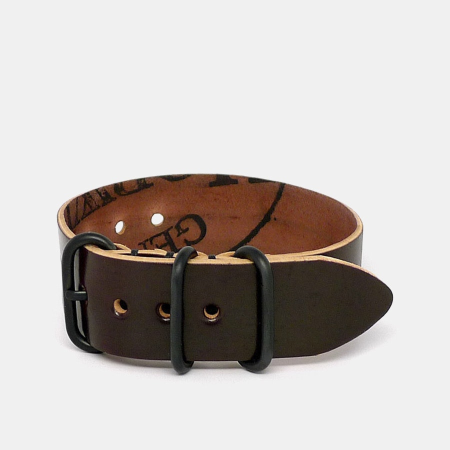 Da Luca Shell Cordovan One-Piece Watch Strap
