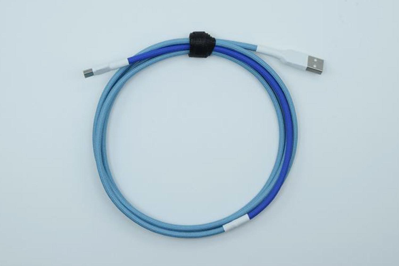 Dual Blue Paracord (White heatshrink)