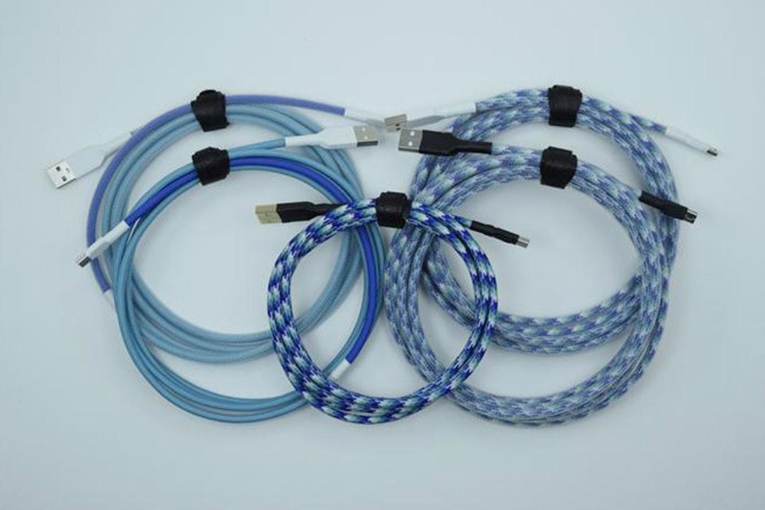Dasher & Dancer Custom-Sleeved USB Cable