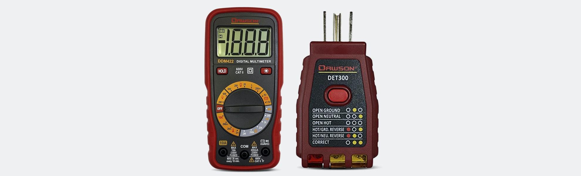 Dawson Digital Multimeter + GFCI Socket Tester