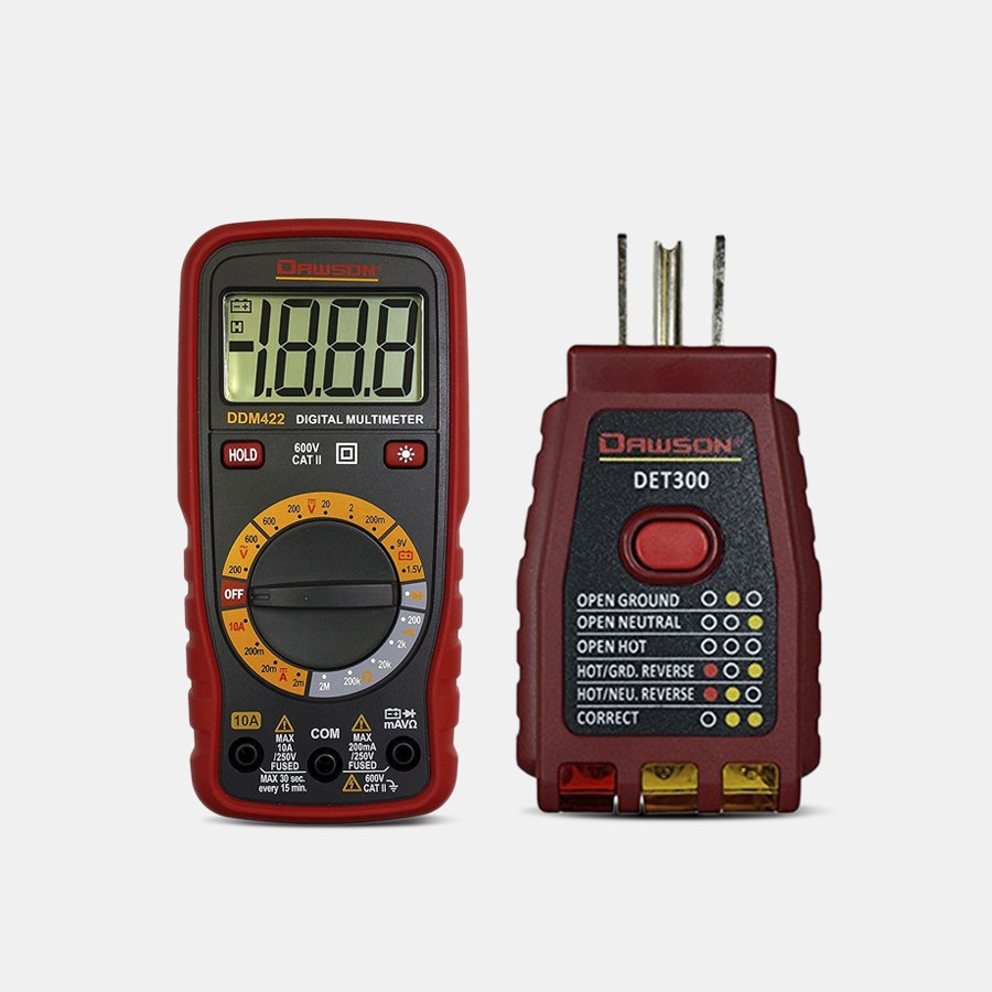 Dawson Digital Multimeter + GFCI Socket Tester