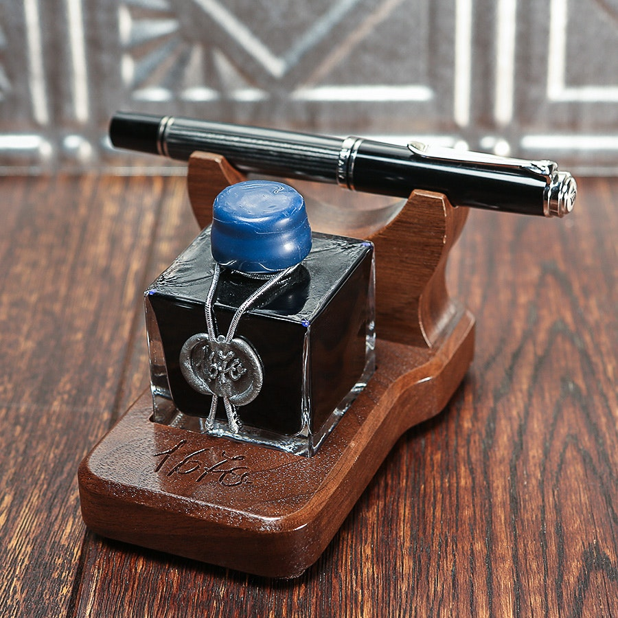 Walnut Display Stand for J. Herbin 1670 Inks