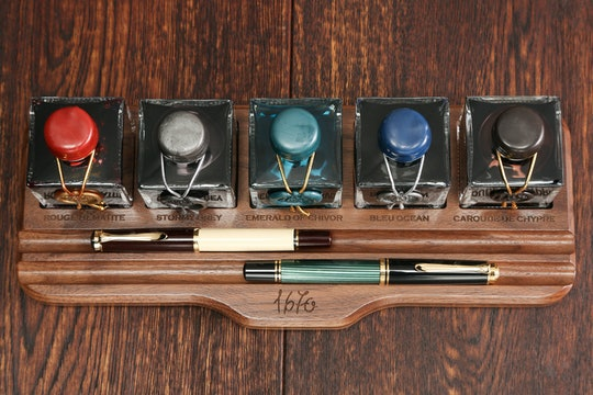 Walnut Display Stand for J. Herbin 1670 Inks