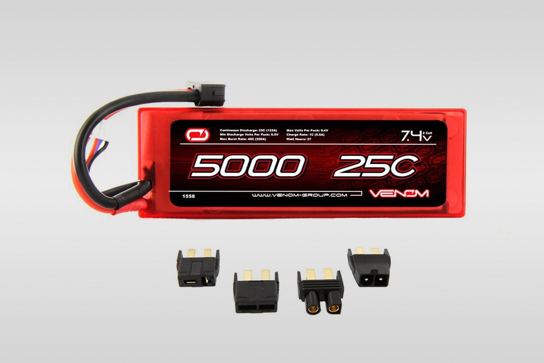 Venom 25C 2S 5000mAh 7.4V (+ $45)
