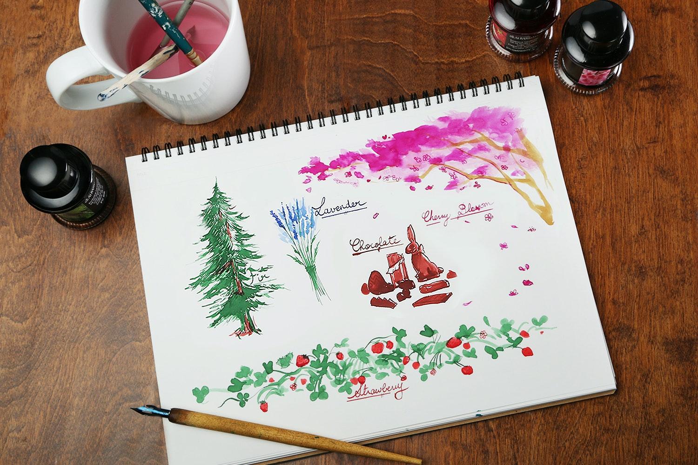 De Atramentis Scented Inks (4-Pack)