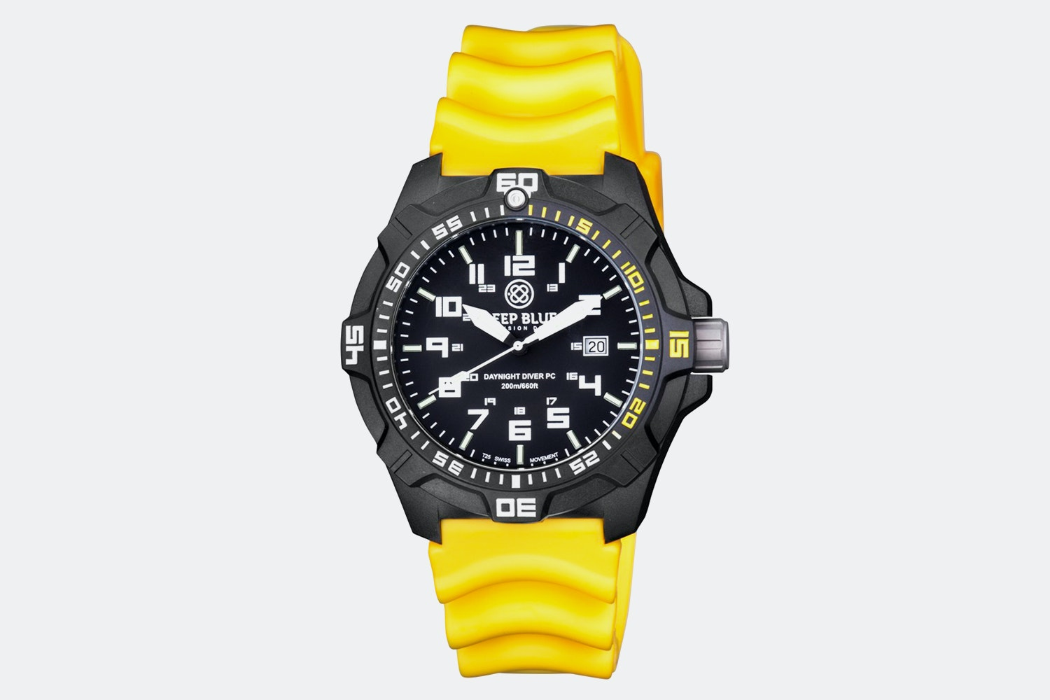 Yellow accents, yellow strap