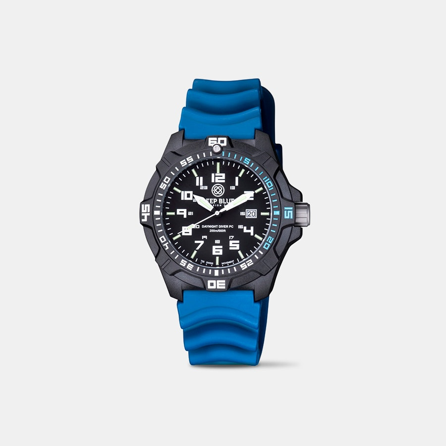 Deep Blue DayNight Tritium Quartz Watch