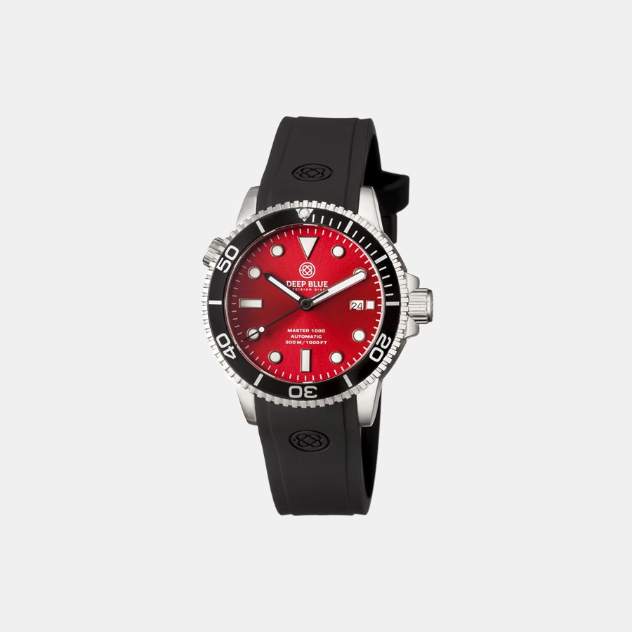 Red sunray dial