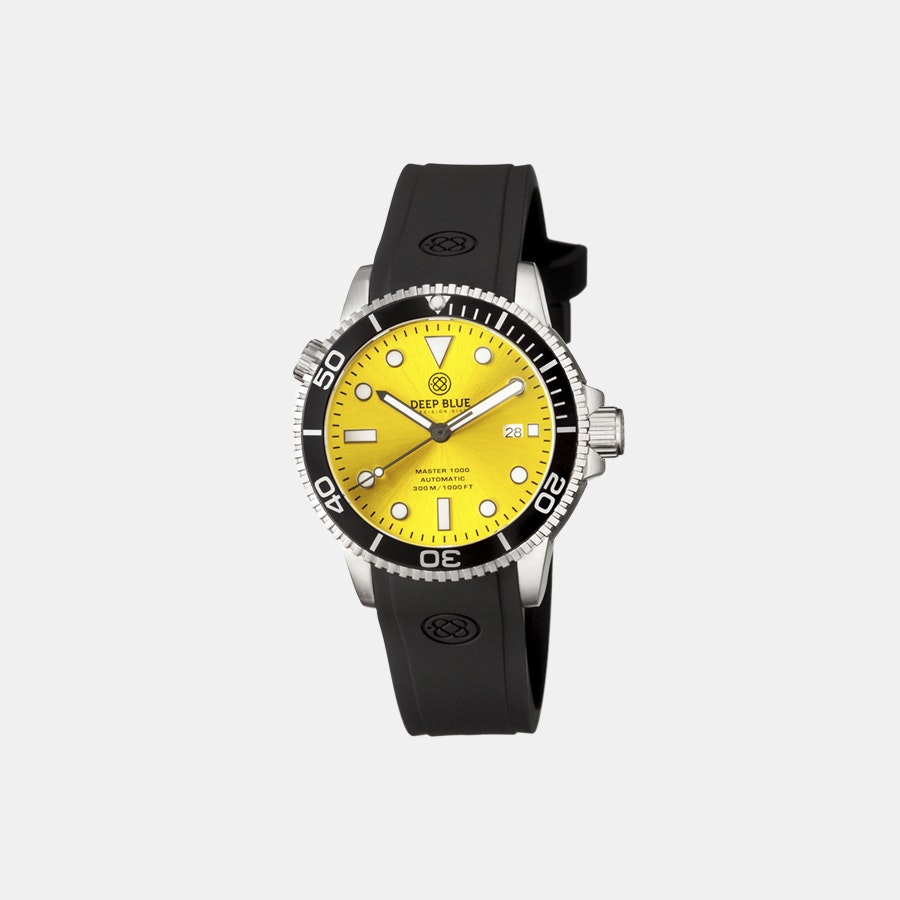 Yellow sunray dial