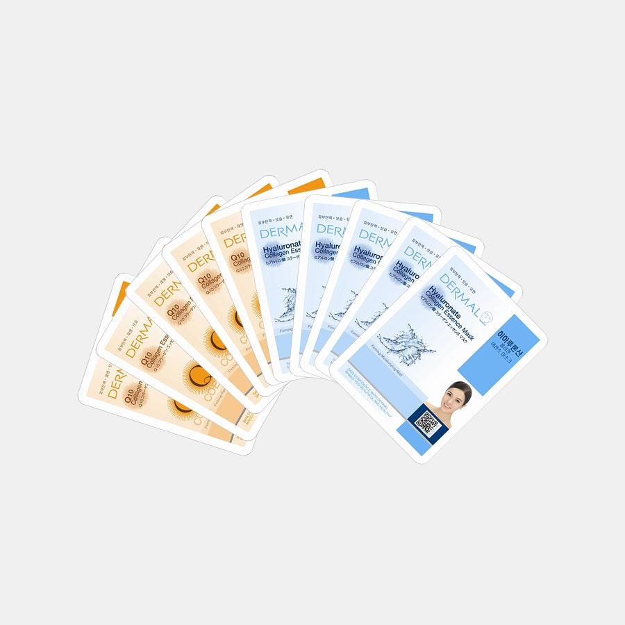 Dermal Assorted Collagen Masks (10 Sheets)