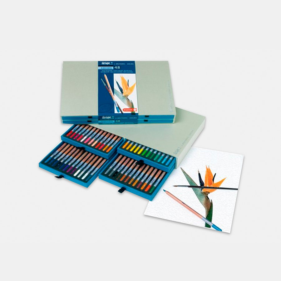 Design Aquarel Pencil Set By Bruynzeel (48 Count)