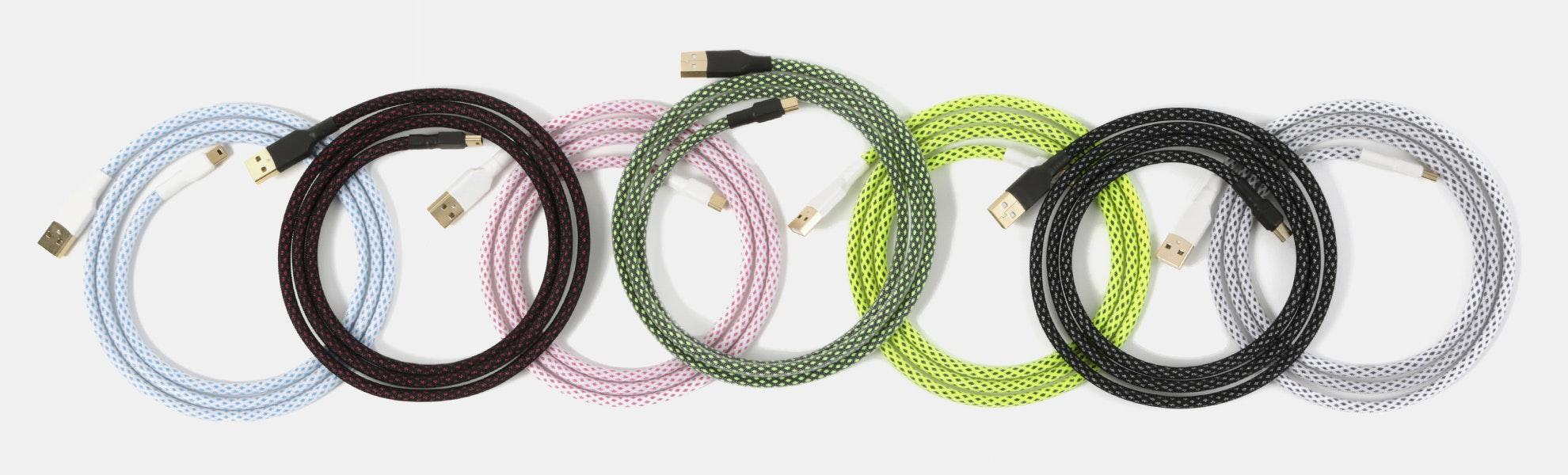 Diamond-Patterned Techflex USB Cables
