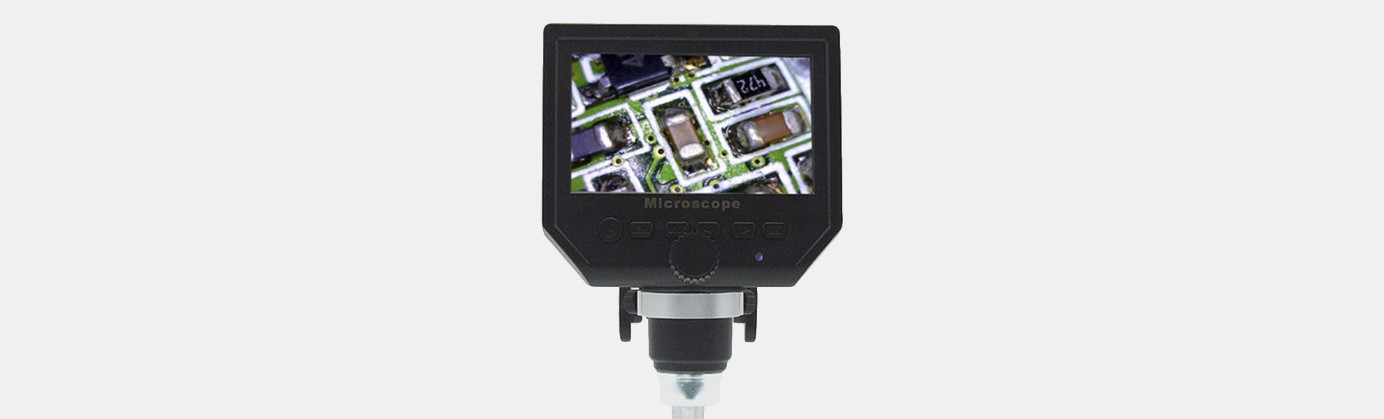 "Elecrow 1–600X Portable Microscope w/ 4.3"" HD LCD"
