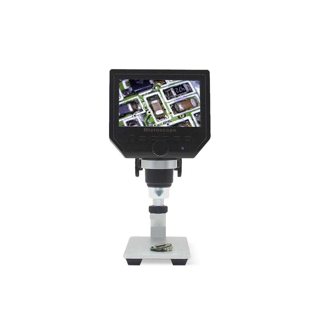 "Elecrow 1–600X Portable Microscope w/ 4.3"" HD OLED"