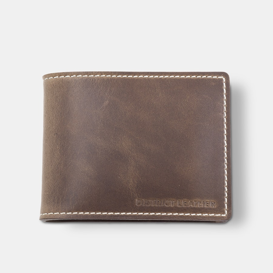 District Leather Metro Thin Bifold Wallet