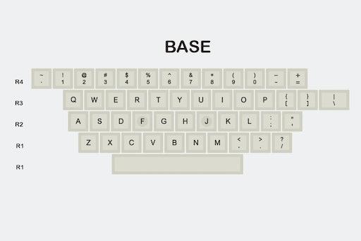DOMIKEY 1980s SA Doubleshot ABS Keycap Set