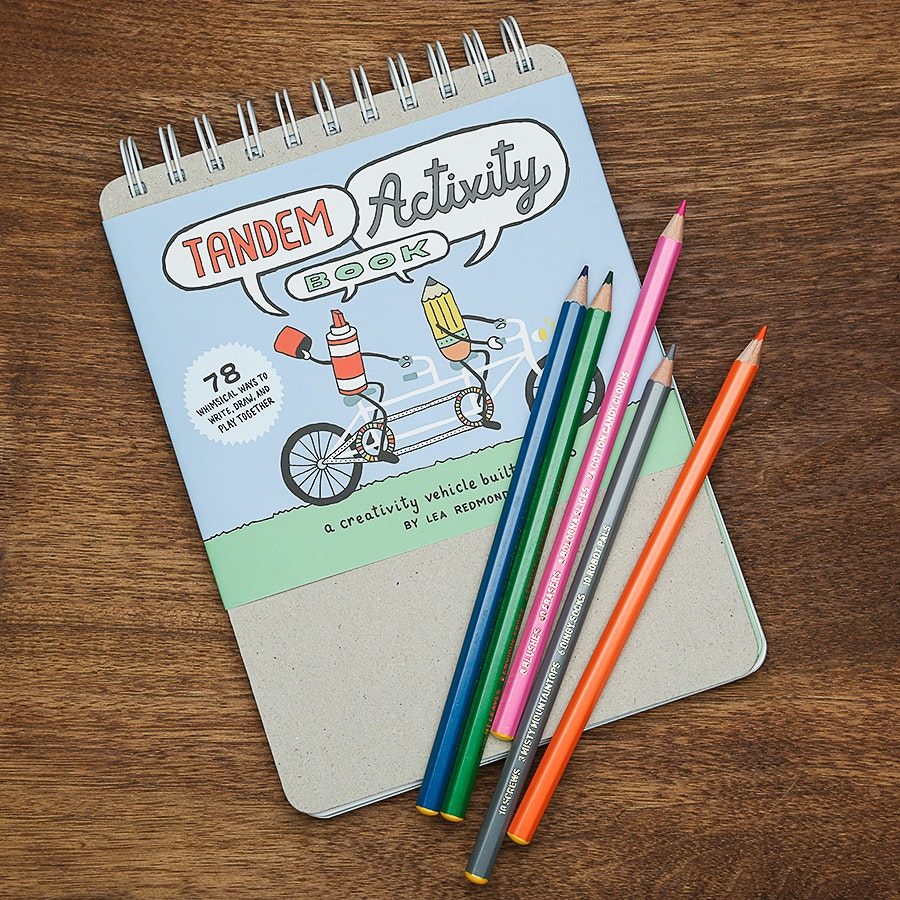 Tandem Activity Book & Colored Pencils Bundle