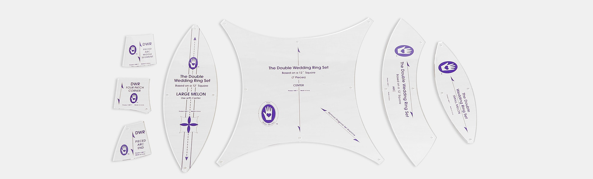 Double Wedding Ring Template from Marti Michell
