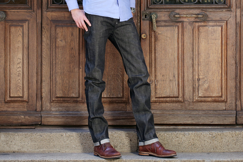 13.75-Oz Raw Denim Jeans by Doublewood Denim
