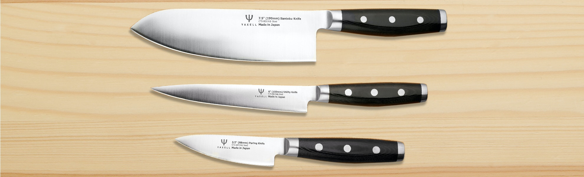 Dragon by Yaxell Japanese Kitchen Knives (Set of 3)