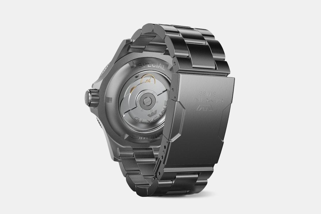 """Drop + Glycine Combat Sub """"Coffee"""" GMT Watch"""