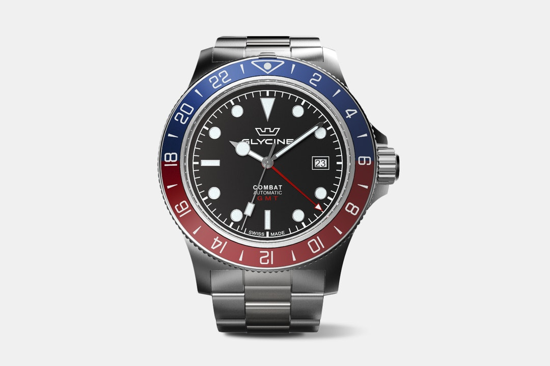 "Drop + Glycine Combat Sub ""Soda"" GMT Watch"