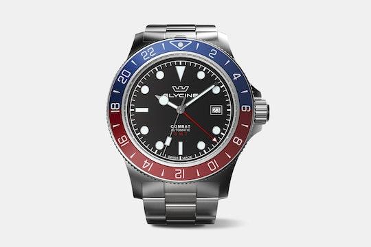 "Drop + Glycine Combat Sub ""Soda"" GMT Edition Watch"