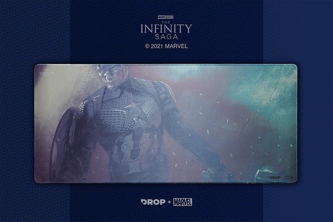 Drop + Marvel Captain America Deskmat