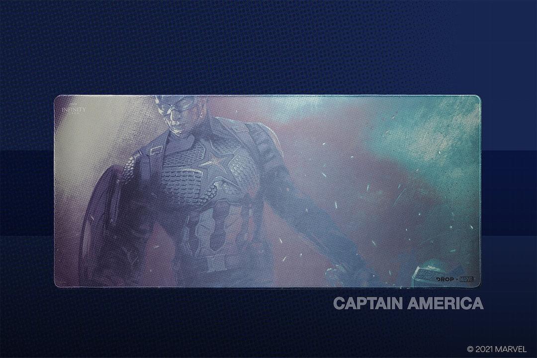 Drop + Marvel Captain America Keycap Set