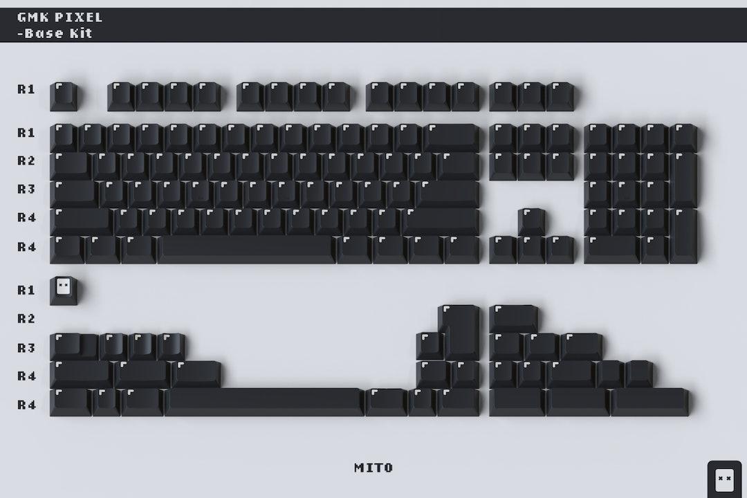 Drop + MiTo GMK Pixel Custom Keycap Set