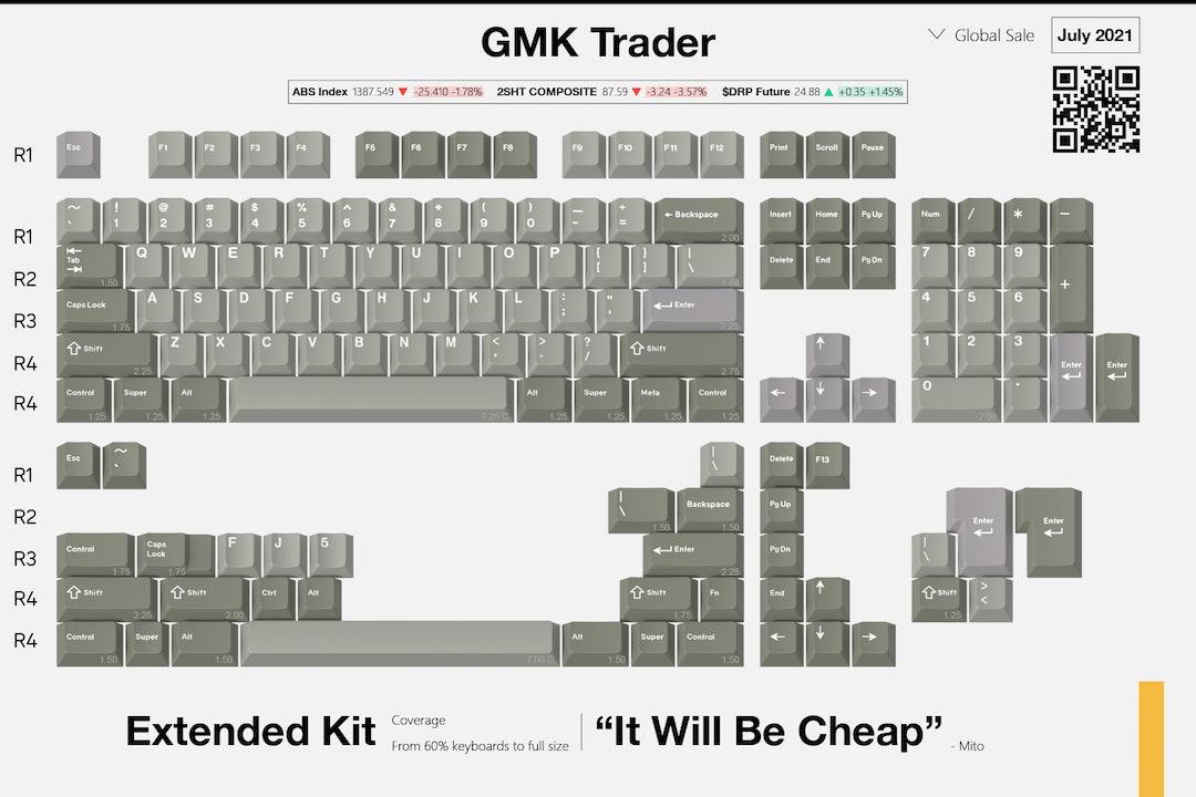 Drop + MiTo GMK Trader Custom Keycap Set