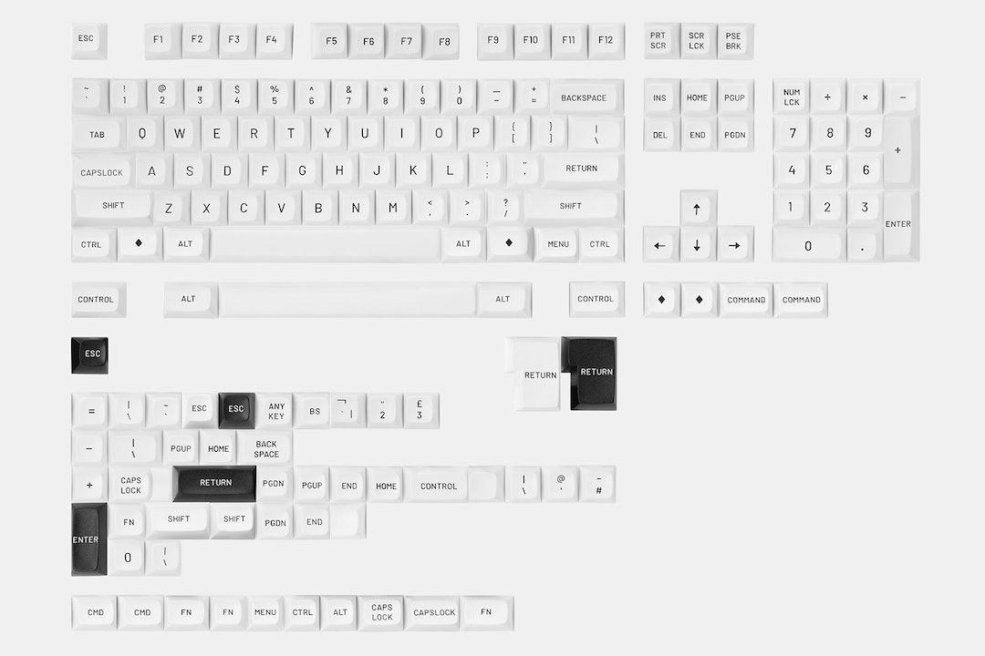 Drop MT3 Black-on-White Keycap Set