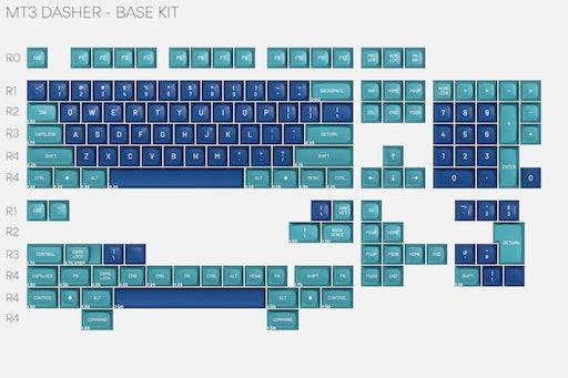 Drop MT3 Dasher Keycap Set