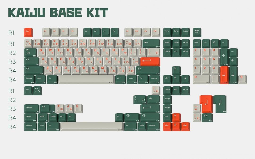 Drop + Nephlock GMK Kaiju Custom Keycap Set