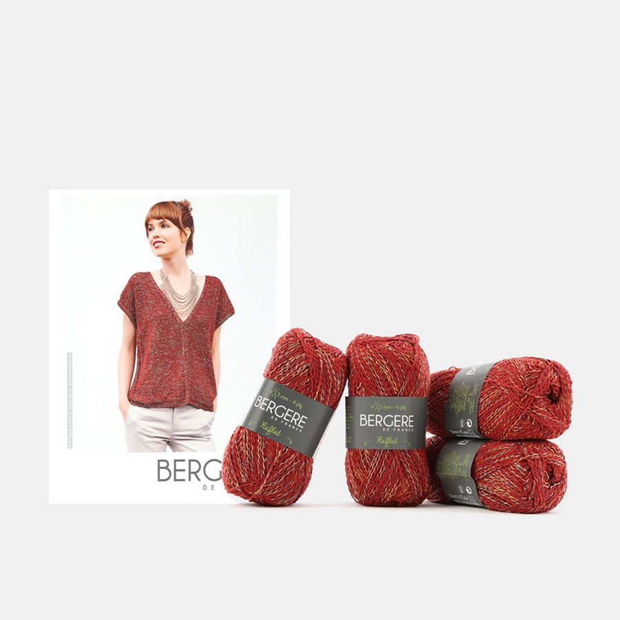 Drop Shoulder V-Neck Kit by Bergere De France