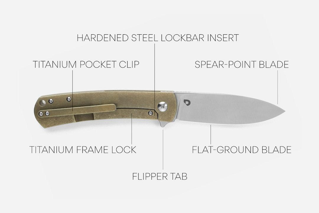 Drop + Laconico Keen Spear-Point Folding Knife