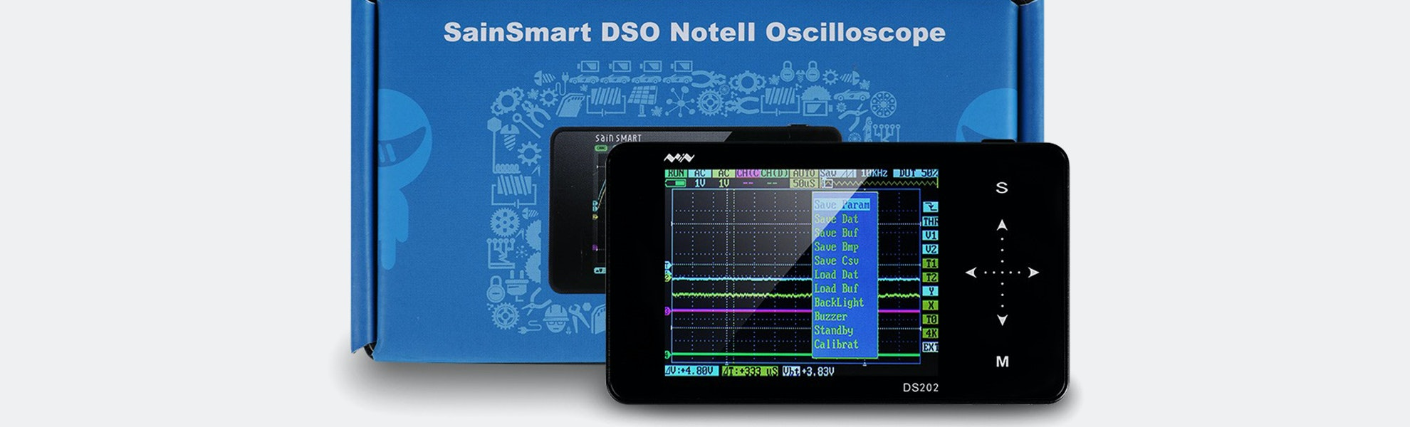 DS202 Nano Arm Touch Digital Portable Oscilloscope