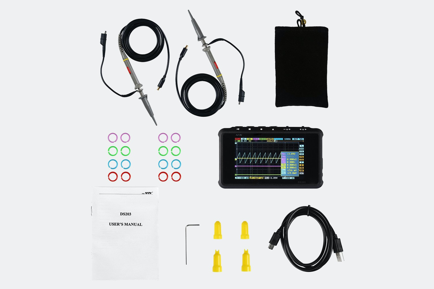 DSO203 NANO ARM DSO V2 Quad Mini Oscilloscope Kit