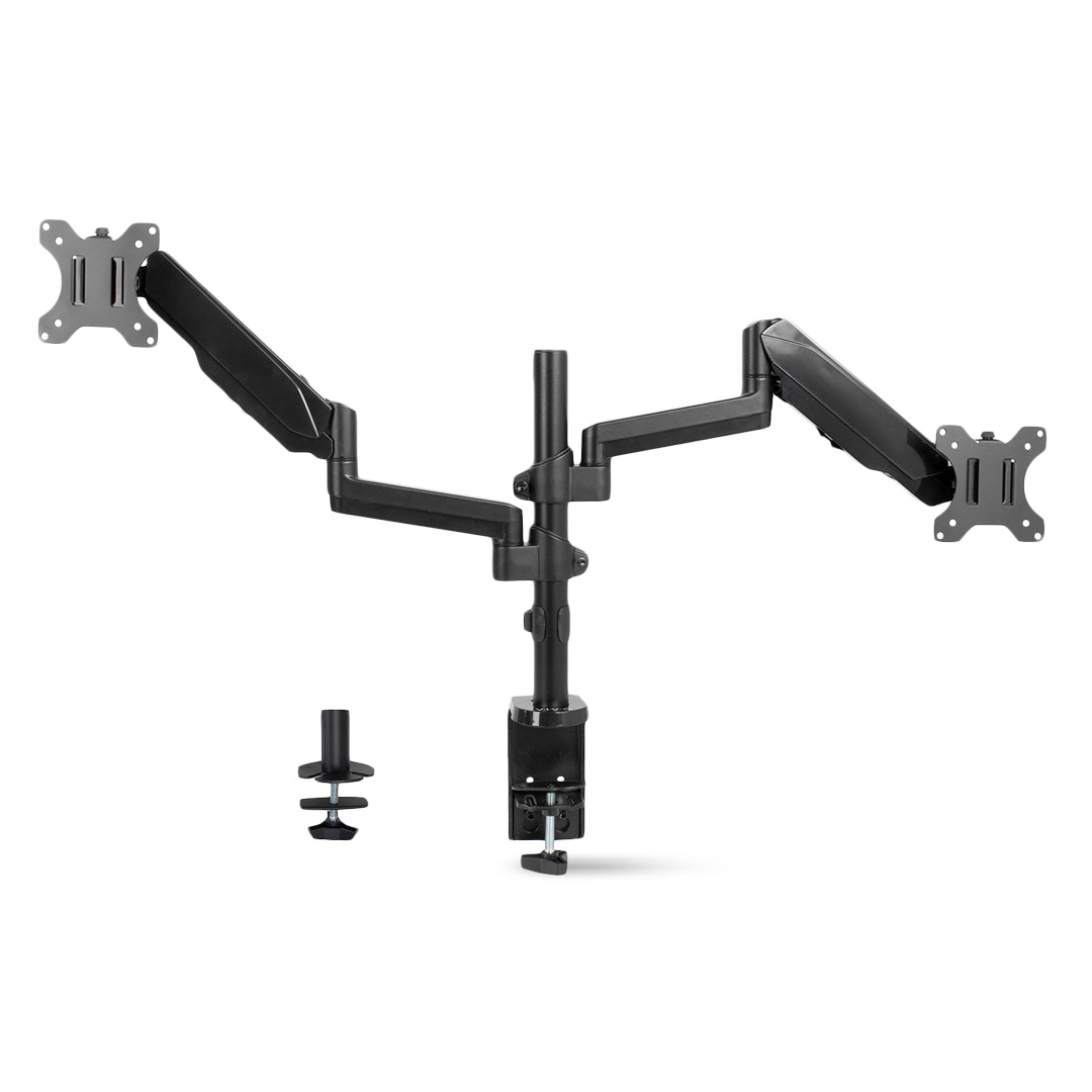Vivo Dual-Monitor Pneumatic Spring Arm Desk Mount