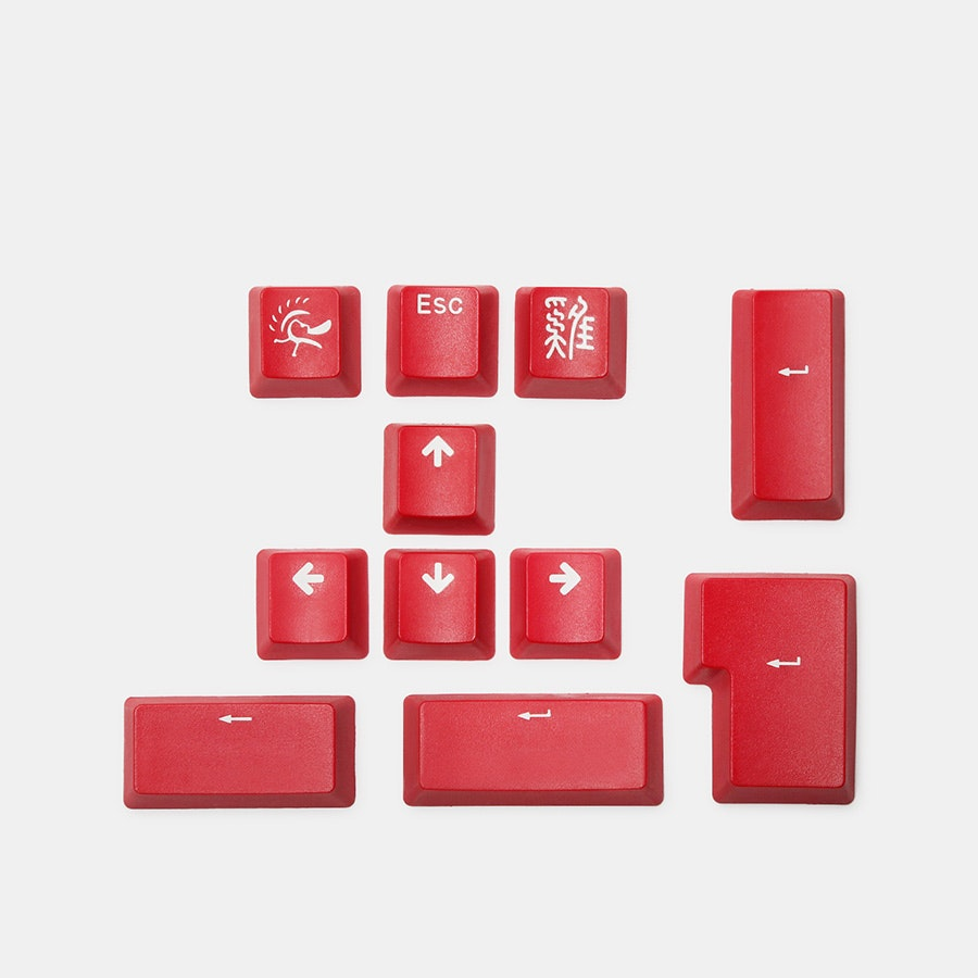Ducky 11-Key PBT Doubleshot Color Keycap Set
