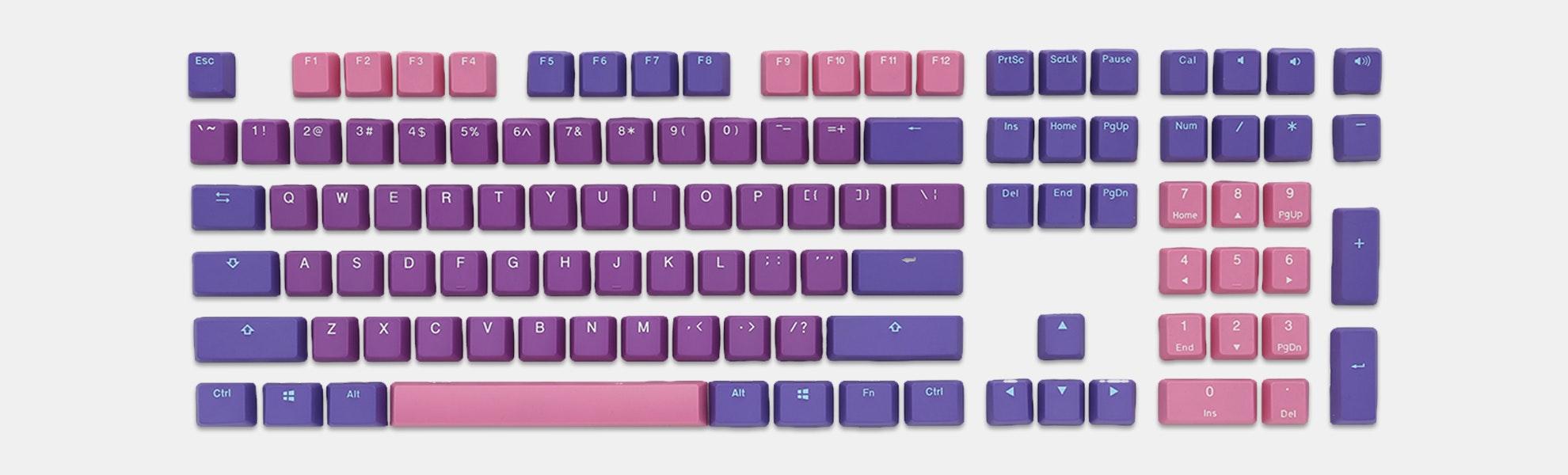 Ducky Ultraviolet PBT Doubleshot Keycap Set