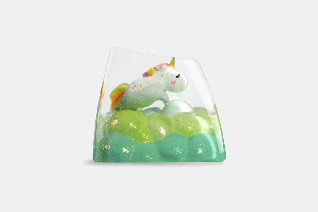 Dwarf Factory Fluffy Unicorn Artisan Keycap