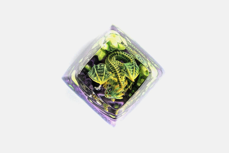 Dwarf Factory Gnarly Drakon Artisan Keycap - Leafy - SA R1