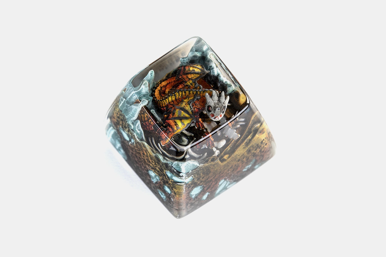 Dwarf Factory Gnarly Drakon Artisan Keycap - Amado - SA R1