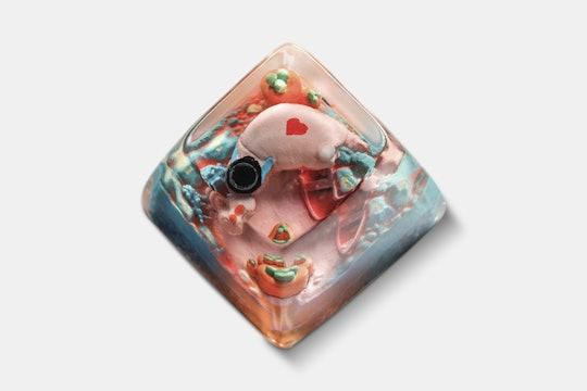 Dwarf Factory Happy Hippo Artisan Keycap
