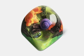 Miracle Island Artisan Dom Keycap - Occulus - Crystal Shell